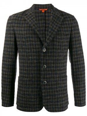 Пиджак в клетку Barena. Цвет: черный