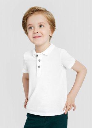 Рубашка-поло для мальчиков O`Stin. Цвет: белый