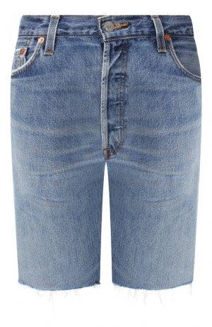 Джинсовые шорты Re/Done. Цвет: голубой
