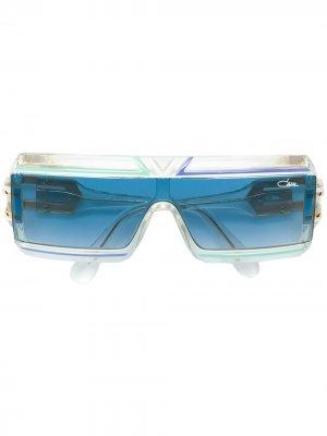 Солнцезащитные очки в квадратной оправе Cazal. Цвет: синий