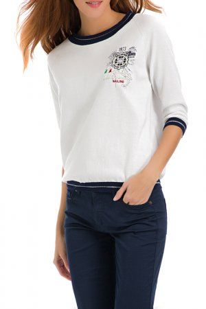 Пуловер Galvanni. Цвет: white, dark blue