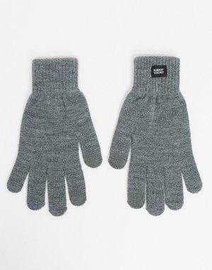 Серые перчатки -Серый Jack & Jones