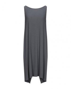 Платье до колена LA FABRIQUE. Цвет: свинцово-серый