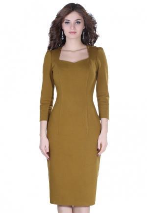 Платье Olivegrey NUAR. Цвет: хаки