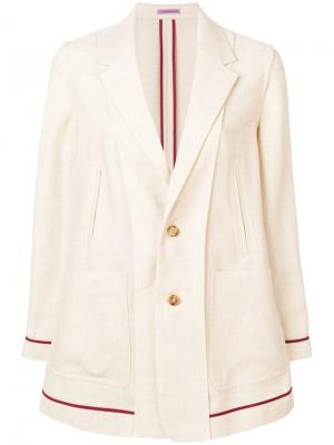 Легкая куртка-бомбер Sueundercover. Цвет: нейтральные цвета