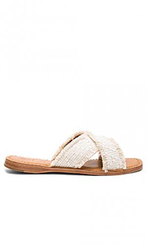 Потертые сандалии hayley Frye. Цвет: ivory