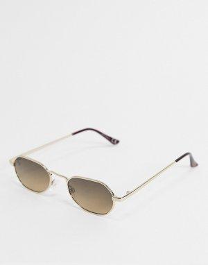 Золотистые солнцезащитные очки -Золотистый Jeepers Peepers