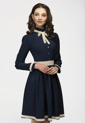 Платье D&M by 1001 dress. Цвет: синий