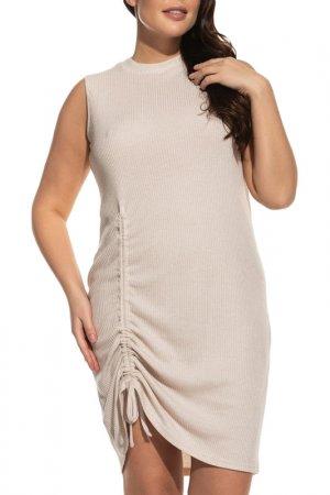 Платье La Via Estelar. Цвет: бежевый