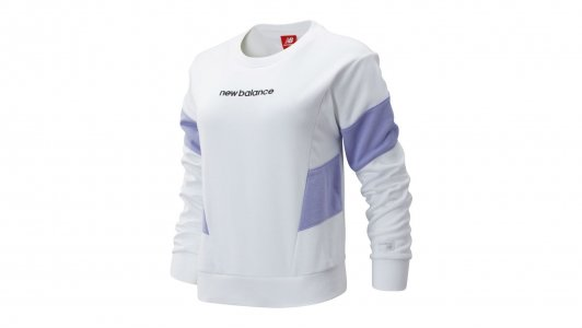 Толстовки NB ATHLETICS CLASSIC FLEECE TOP New Balance. Цвет: белый