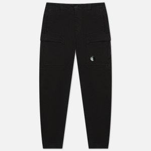 Мужские брюки Stretch Sateen Ergonomic Fit C.P. Company. Цвет: чёрный