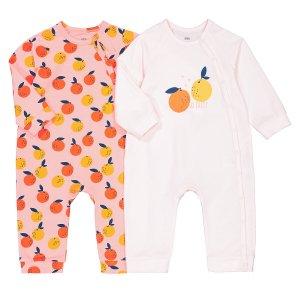 Комплект из 2 пижам без LaRedoute. Цвет: розовый
