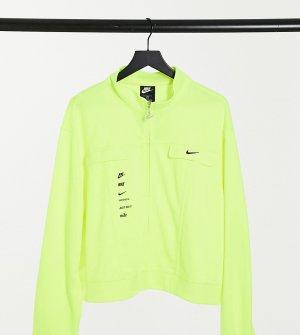 Ярко-зеленая олимпийка с логотипом-галочкой Plus-Зеленый Nike
