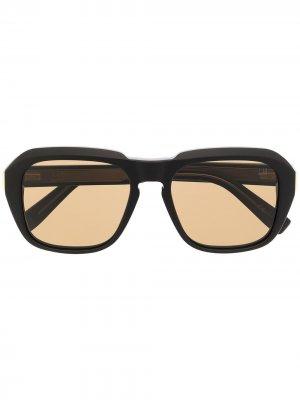 Солнцезащитные очки в квадратной оправе Dunhill. Цвет: черный