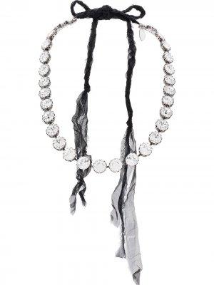 Ожерелье с кристаллами Forte. Цвет: черный