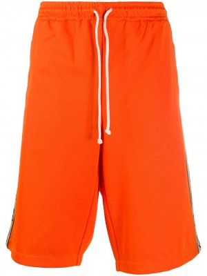 Спортивные шорты с логотипом Interlocking G Gucci. Цвет: оранжевый