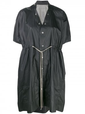 Short-sleeved raincoat Rick Owens. Цвет: черный