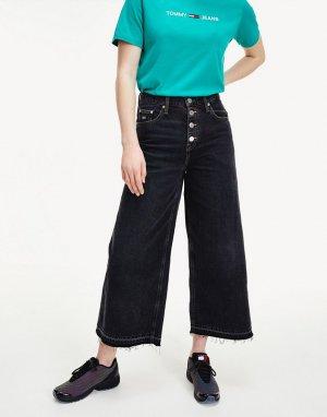 Черные джинсы с широкими штанинами и классической талией -Черный цвет Tommy Jeans