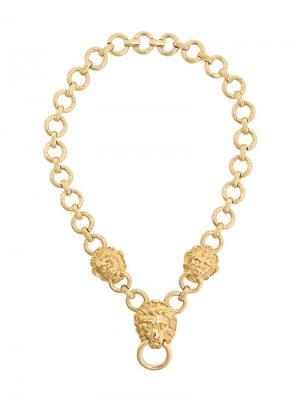 Ожерелье с кольцами и подвеской Susan Caplan Vintage. Цвет: золотистый