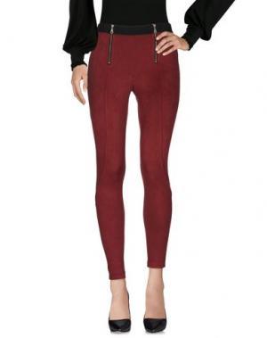 Повседневные брюки DAVID LERNER. Цвет: красно-коричневый