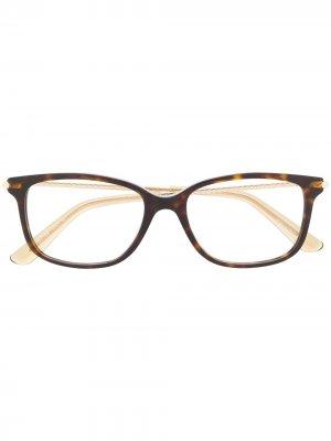 Очки в оправе черепаховой расцветки Bottega Veneta Eyewear. Цвет: коричневый