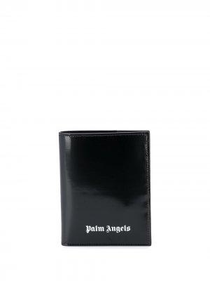 Складной кошелек Palm Angels. Цвет: черный