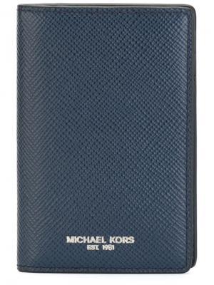 Визитница Harrison Michael Kors. Цвет: синий