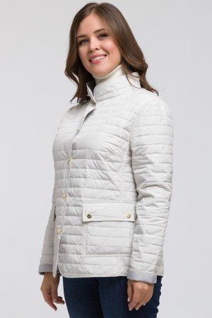 Стеганая весенняя куртка на большой размер Dixi Coat. Цвет: светло-бежевый
