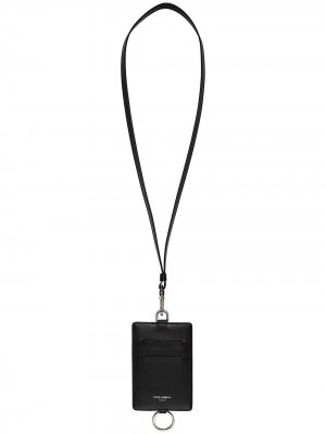Картхолдер с ремешком на шею Dolce & Gabbana. Цвет: черный