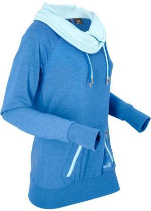 Анорак с длинными рукавами (лазурный меланж) bonprix. Цвет: лазурный меланж