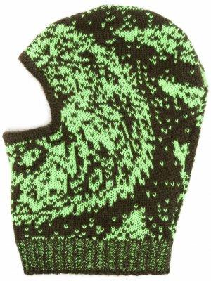 Балаклава с принтом Paria Farzaneh. Цвет: зеленый