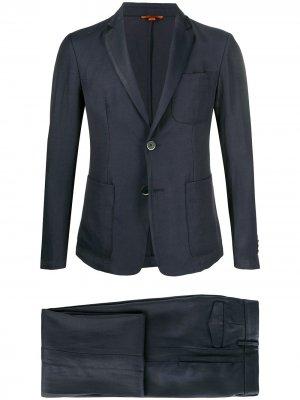 Костюм с однобортным пиджаком Barena. Цвет: синий