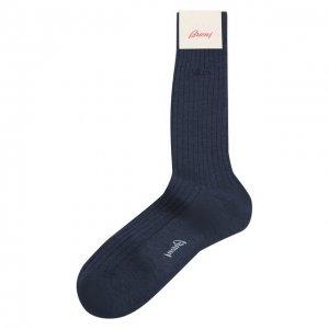 Шерстяные носки Brioni. Цвет: синий