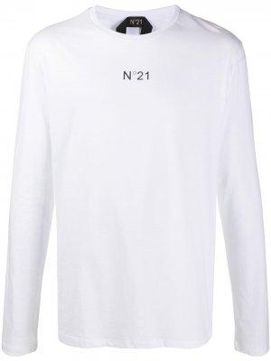 Logo-print long-sleeve T-shirt Nº21. Цвет: белый