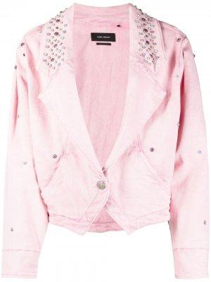 Джинсовая куртка с заклепками Isabel Marant. Цвет: розовый