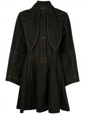 Платье Terrestrial с декоративной строчкой Karen Walker. Цвет: черный