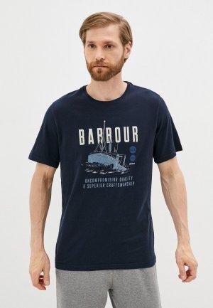 Футболка Barbour. Цвет: синий
