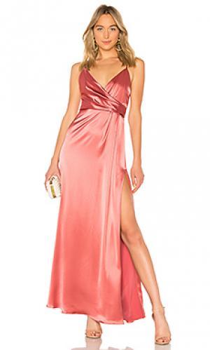 Вечернее платье с запахом JILL STUART. Цвет: rose