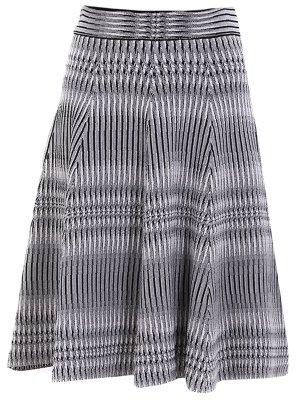 Расклешенная юбка из шерсти Antonio Berardi. Цвет: серый
