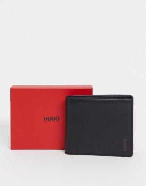Бумажник с маленьким логотипом HUGO-Черный BOSS