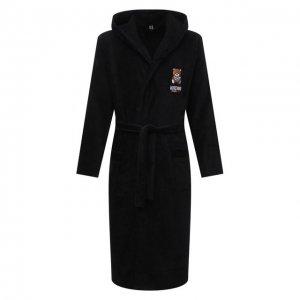 Хлопковый халат Moschino. Цвет: чёрный