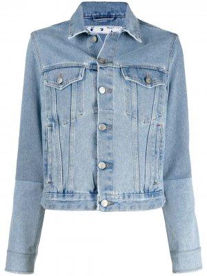 Джинсовая куртка на пуговицах Off-White. Цвет: синий