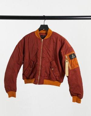 Куртка-бомбер желтовато-коричневого цвета -Оранжевый Jordan