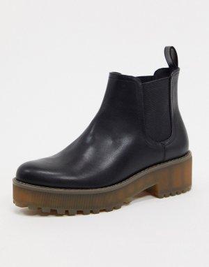 Ботинки челси на массивной подошве -Черный Monki