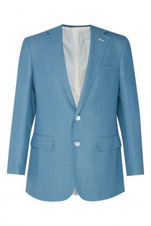 Бирюзовый пиджак Stefano Ricci. Цвет: голубой