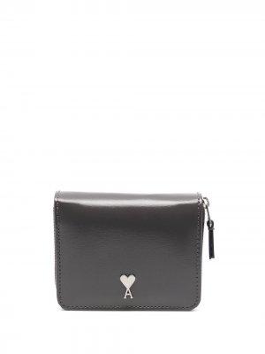 Компактный кошелек с монограммой Ami de Coeur Paris. Цвет: серый