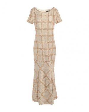 Длинное платье ST. JOHN. Цвет: золотистый