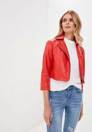 Куртка кожаная SH. Цвет: красный