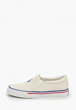 Слипоны Polo Ralph Lauren. Цвет: белый