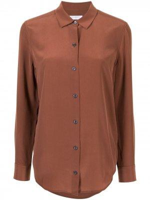 Рубашка на пуговицах с длинными рукавами Equipment. Цвет: коричневый